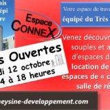 """Invitation aux portes ouvertes de l'Espace ConneX, Espacede travail """"coworking"""""""