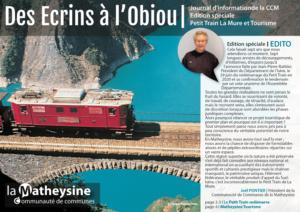 Journal d'information de la CCM Edition spéciale Petit Train de La Mure