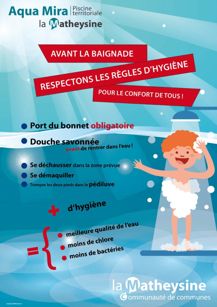 règles hygiène de la piscine