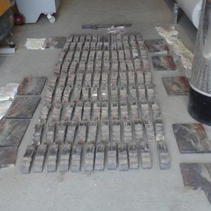 108 barreaux permettant le déplacement des copeaux de bois