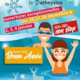 horaires ouverture piscine Noël