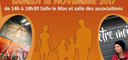 Affiche de la 8 ème journée des familles organisée par le réseau Grandir en Matheysine