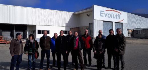 Les élus visite de chantier espace Evolutif